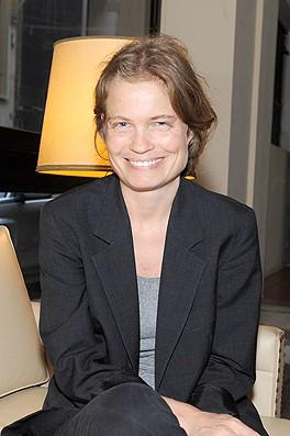 Sarah Biasini, un sourire rayonnant... Photo Michel Sayegh