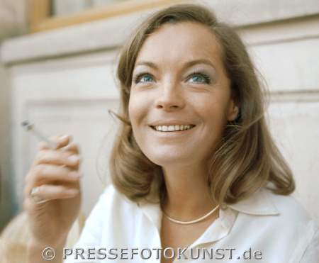 Romy Schneider in Paris, Mai 1973