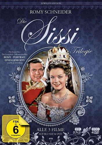 """Sissi Trilogie - Juwelen-Edition + Dokumentarfilm """"Romy Schneider - Portrait eines Gesichts"""" [3 Blu-rays + 4 DVDs inkl. Doku]"""